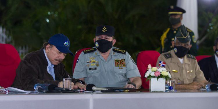 Ortega intenta sacudirse la culpa del paso de drogas por Nicaragua. Foto: Tomada de medios oficialistas.