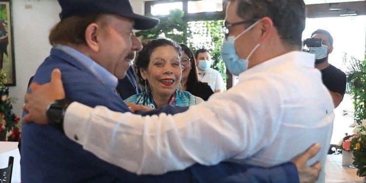 Presidente de Honduras visita Nicaragua para coordinar acciones en búsqueda de fondos. Foto: Gobierno Honduras.