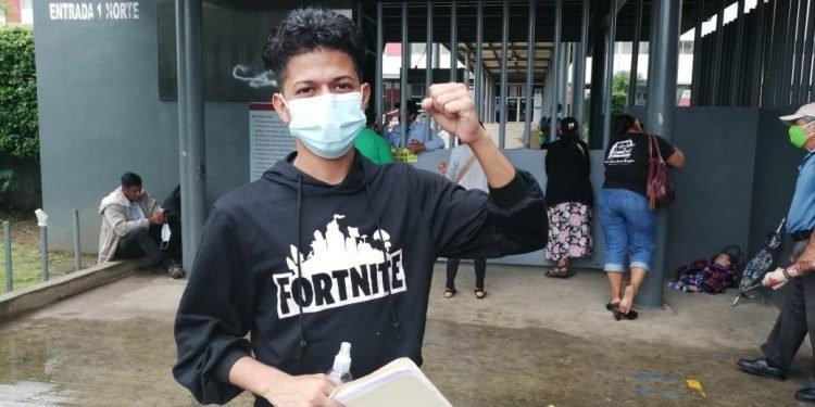 El joven opositor Kevin Monzón. Foto: N. Pérez / Artículo 66