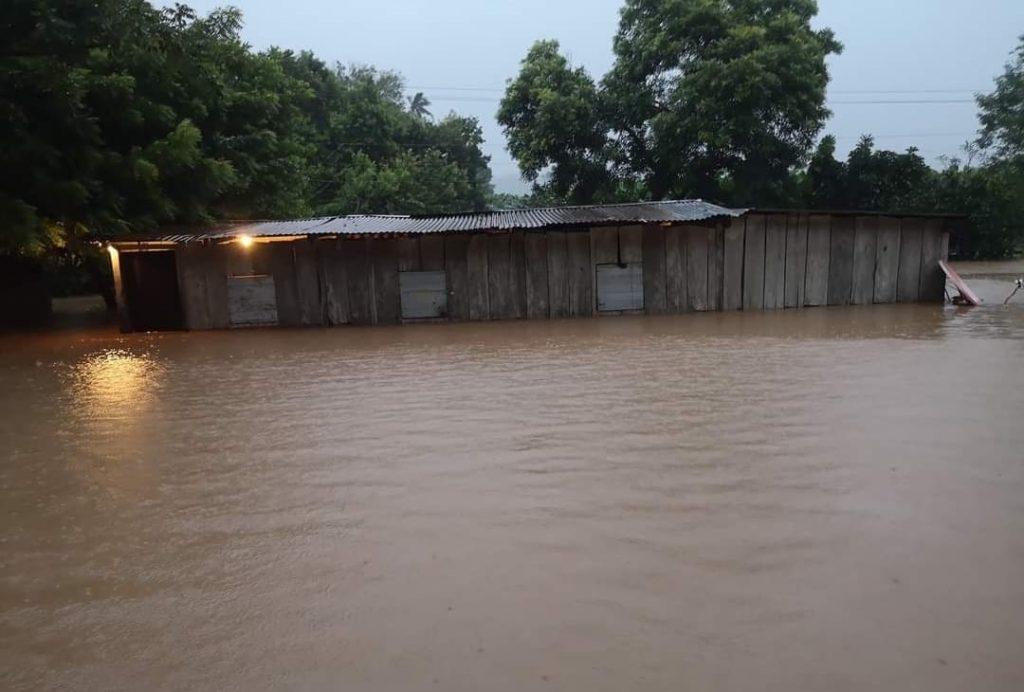 Municipios de Rivas inundados por las lluvias ocasionadas por Iota. Foto: Cortesía