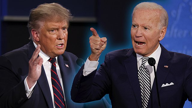 Joe Biden a las puertas de la Casa Blanca y Trump a punto de salir de ella. Foto: Diario Democracia.