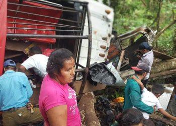 Accidente de transito en la comunidad Ocote en Waslala deja 16 personas fallecidas. Foto: Cortesía