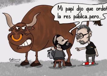 La Caricatura: Los hijos de papi ordeñando al Estado