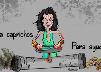 La Caricatura:  El derroche de la vicedictadora