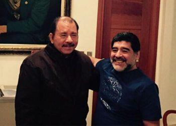 «Se nos va otro gigante, Maradona, militante excelso», expresa régimen de Nicaragua. Foto: RRSS.