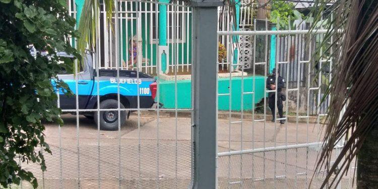Policía de Ortega impide conformación de la Coalición Nacional en el Caribe Sur. Foto: Cortesía.