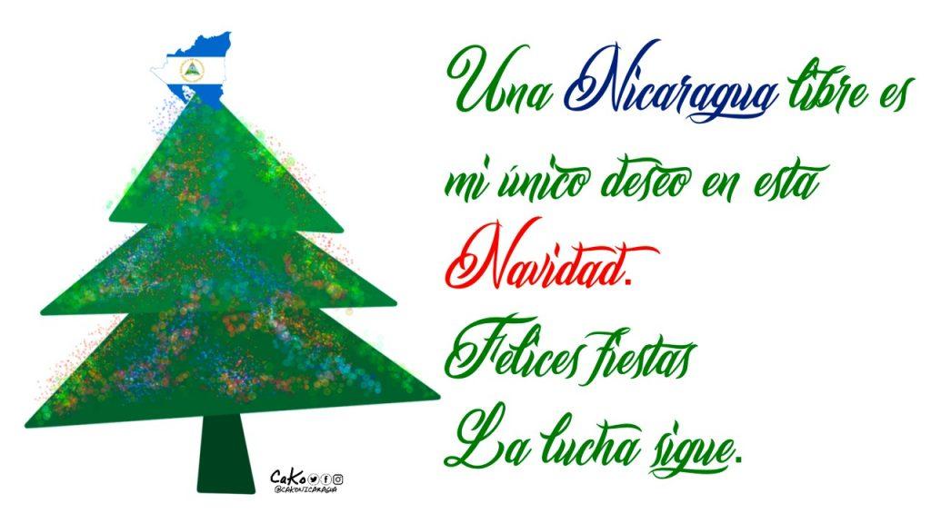 La Caricatura: El deseo de una Nicaragua libre. Foto: Artículo 66 / Cako Nicaragua