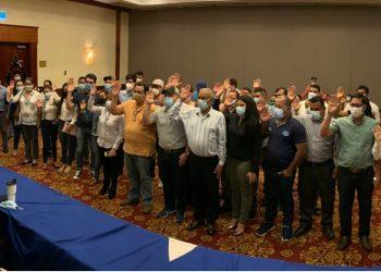 Juramentan directivas de la Coalición Nacional de Managua y Estelí insistiendo en la «urgente Unidad» de toda la oposición. Foto: A. Navarro/Artículo 66