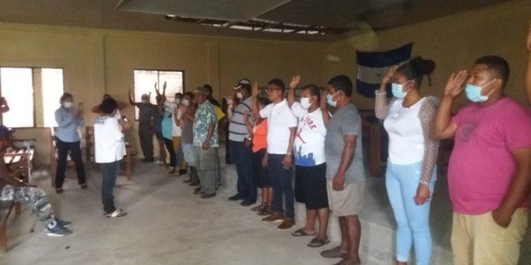 Coalición Nacional en Puerto cabezas burló el cerco policial e instaló la directiva opositora en esa ciudad. Foto: Cortesía.