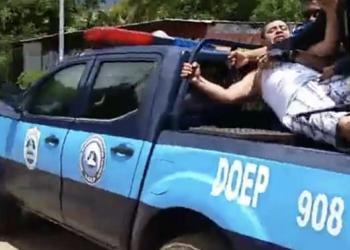 Opositor Lenin Salablanca nuevamente secuestrado y golpeado por la Policía del régimen. Foto: Cortesía.