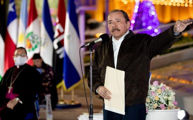 Daniel Ortega se declara víctima de «protesta armada» ante cuerpo diplomático. Foto: Gobierno.