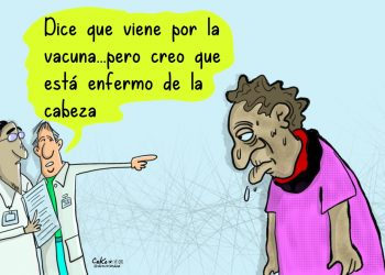 La Caricatura:  Las vacunas y los enfermos de la cabeza