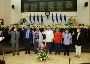 Sancionado Gustavo Porras repite como presidente de la Asamblea de Nicaragua. Foto: Artículo 66 / Asamblea Nacional