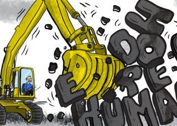 La Caricatura: El demoledor de los derechos humanos. Cako Nicaragua