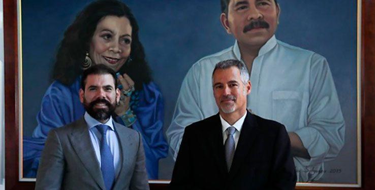 Embajador de Israel, Oren Bar-El, y Laureano Ortega, asesor de Inversiones, Comercio y Cooperación Internacional de la Presidencia. Foto: CCC