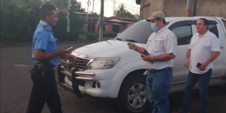 Medardo Mairena burló cerco policial pero le costó agresión y amenazas. Foto: Artículo 66 / Noel Miranda