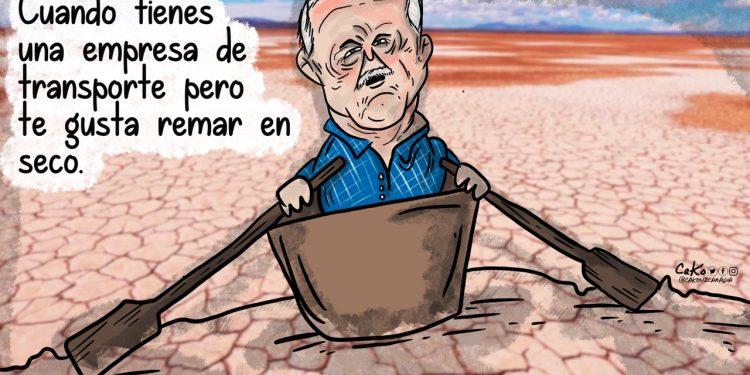 La Caricatura: Remando en seco