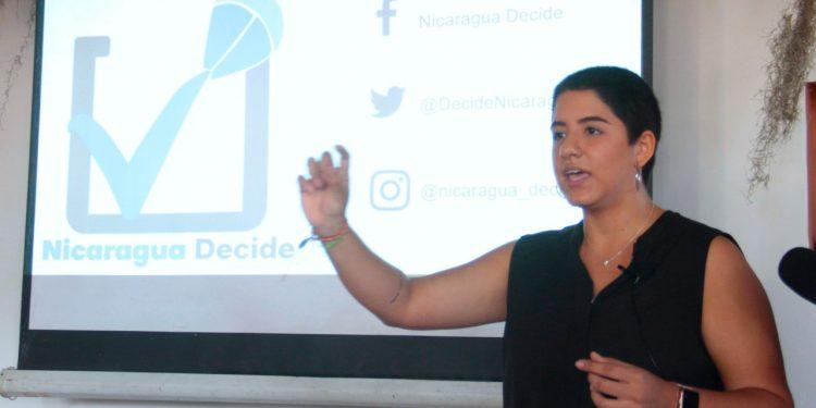 Jóvenes opositores lanzan «Nicaragua Decide», una iniciativa digital para seleccionar candidatos dentro de la oposición. Foto: Cortesía.