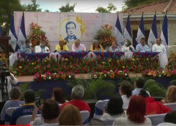 Con 70 votos a favor, Diputados sandinistas aprueban reforma constitucional que establece la prisión perpetua contra «crímenes de odio». Foto: Captura medios oficialistas.
