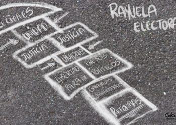 La Caricatura: Rayuela electoral