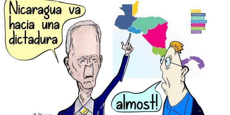 La Caricatura: Biden casi la pega