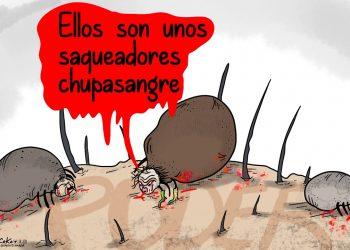 La Caricatura:  Los chupasangre