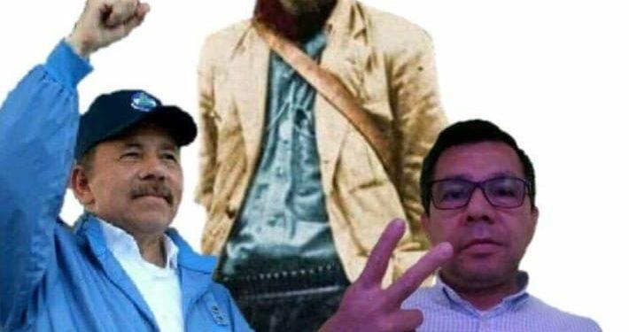 José Rolando Castillo, en uno de los montajes que se hizo con Daniel Ortega. Foto: Tomada de las redes sociales