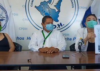 Juez orteguista declara culpable por el delito de calumnias a comunicador David Quintana quien asegura ser inocente. Foto: Captura transmisión CPDH.