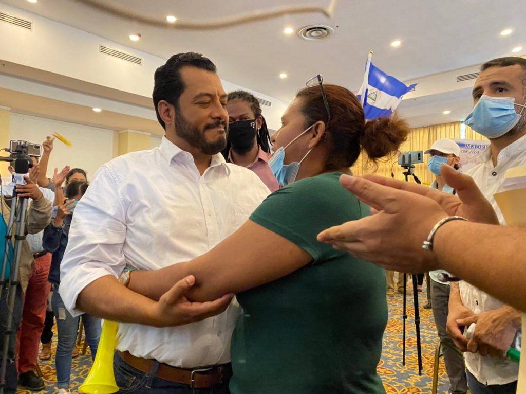 Félix Maradiaga lanza precandidatura presidencial y dice que «no estoy interesado en la vicepresidencia de la República». Foto: Cortesía.