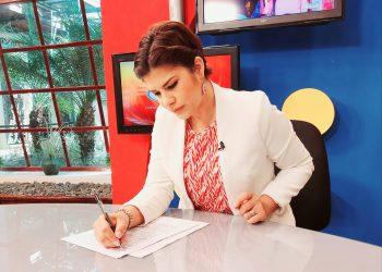 Aminta Ramírez se retira de Canal 10 para lanzarse a la política con Alfredo César. Foto: RRSS.