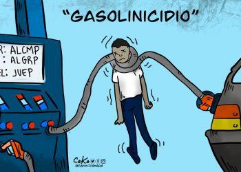 La Caricatura: Gasolinicidio