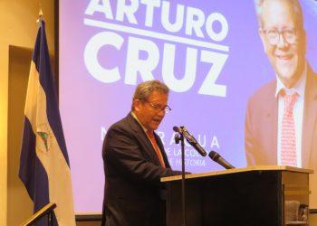 Arturo Cruz confirma sus aspiraciones presidencial y ya son seis precandidatos en la oposición . Foto: N. Miranda/Artículo 66