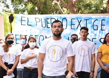 Universitarios de AUN, integrantes de la Alianza Cívica, «amenazan» con lanzar su propio candidato presidencial. Foto: Artículo 66.