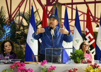 Daniel Ortega, durante su comparecencia del 8 de marzo de 2021. Foto: CCC