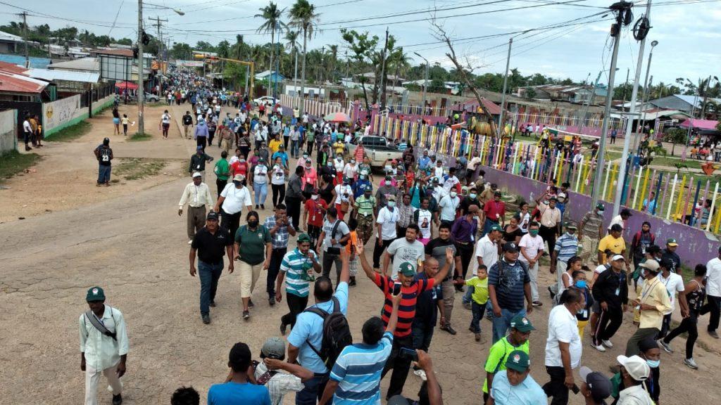 Indígenas y afrodescendientes de la Costa Caribe salen a las calles para demandar reformas electorales y justicia. Foto: Cortesía.