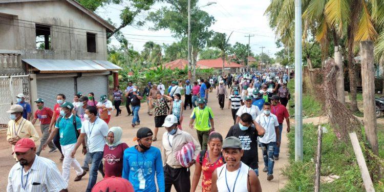 La marcha de Bilwi. Foto: Cortesía