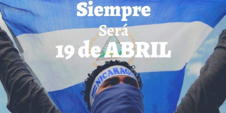 El opositor venezolano Juan Guaidó saluda el tercer aniversario de la rebelión de abril en Nicaragua. Foto: Internet.