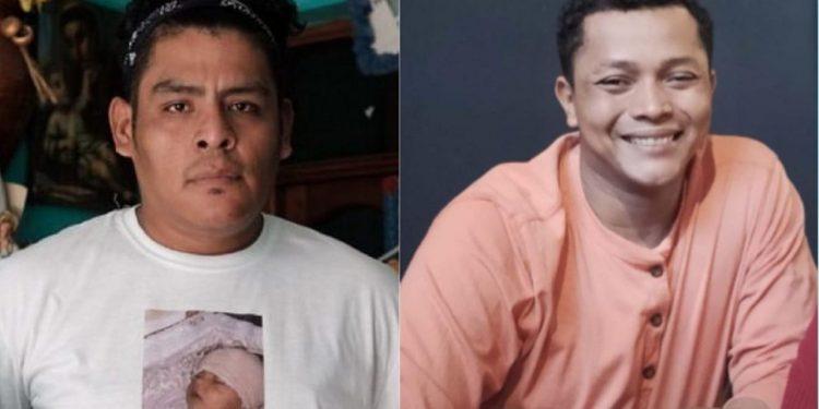 Nelson Lorío y el exatrincherado Balbino Colleman, presos en «El Chipote» acusados por robo de vehículo.. Foto: Internet.