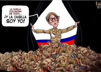 CxL intolerante, reacciona virulento ante caricatura de La Prensa que critica autoritarismo de Kitty Monterrey. Foto: La Prensa.