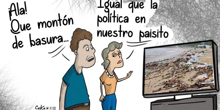La Caricatura: Basura  política