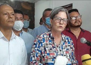 Kitty Monterrey de CxL llama a protestar contra reformas electorales sandinistas porque son «una burla al pueblo de Nicaragua». Foto: Captura de pantalla.