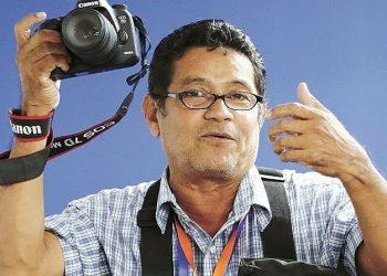Reportero gráfico Oscar Sánchez, hospitalizado por COVID-19. Foto: Cortesía.