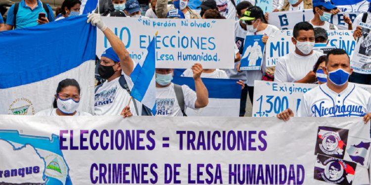 Nicaragüenses en Europa al unísono: «Reforma Electoral para Elecciones Libres y Justas». Foto: Internet.