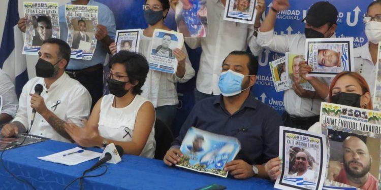 UNAB y familiares de presos políticos presentan demandas a tres años de la masacre. Foto: Noel Miranda/ Artículo 66.