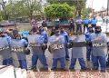 Asedio policial y agresión en misa en memoria de Álvaro Gómez en Masaya.Foto: Captura de pantalla
