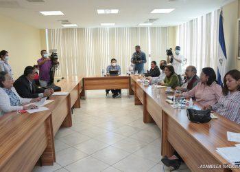 Partido Políticos presentan «parches» a las reformas electorales de Ortega. Foto: Asamblea Nacional.