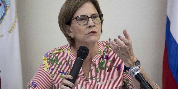 Kitty Monterrey: «Bicentenario de la independencia de Nicaragua se conmemora bajo un contexto de dolor y sufrimiento». Foto: EFE/Jorge Torres