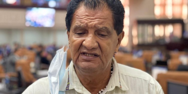 Brooklyn Rivera: «yo no represento a la Coalición Nacional Nacional, yo represento a Yatama». Foto: Artículo 66 / Cortesía Voz de América