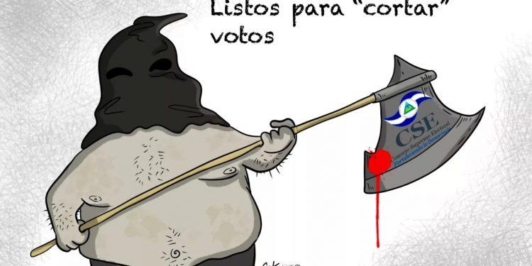 La Caricatura: Cortando votos