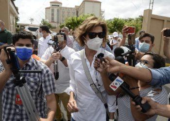 Cristiana Chamorro se presenta a rendir declaración ante la Fiscalía. Foto: Tomada de La Prensa